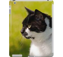 Black & White Cat Portrait iPad Case/Skin