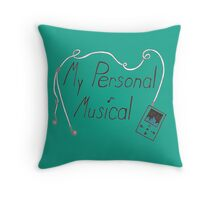 My Personal Musical Throw Pillow