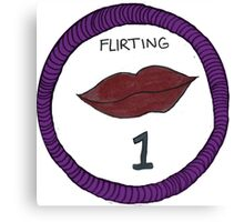 Flirting Level One Scout Badge Canvas Print