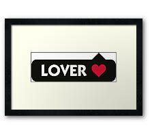 Lover Framed Print
