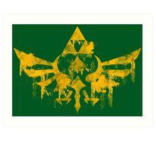 Skyward Symbol - Green BG Art Print