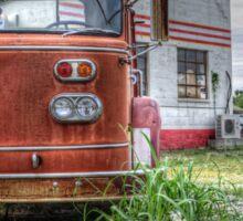 antique kansas tow truck Sticker