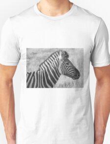 zebra portrait (black & white) Unisex T-Shirt