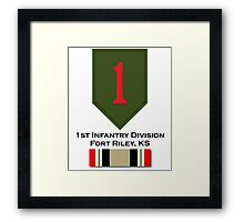1st Infantry Iraq Campaign Framed Print