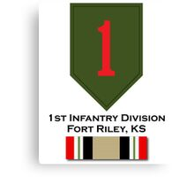 1st Infantry Iraq Campaign Canvas Print