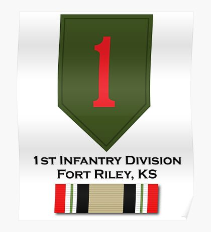1st Infantry Iraq Campaign Poster
