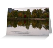 Ripples on quiet lake waters Greeting Card