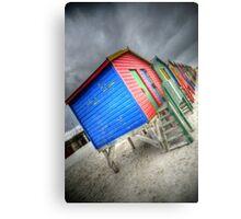 Muizenburg beach huts (vibrant) Metal Print