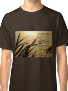 Serenity Prayer With Sunset Grass Classic T-Shirt