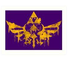 Skyward Symbol - Purple BG Art Print