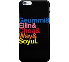 Crayon Pop goes Helvetica (Color) iPhone Case/Skin