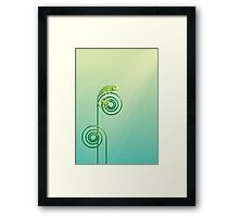 Chamouflaged green Chameleon lizard Framed Print
