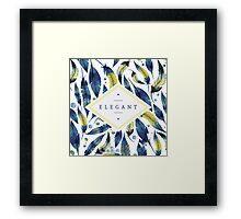 Elegant leaves Framed Print