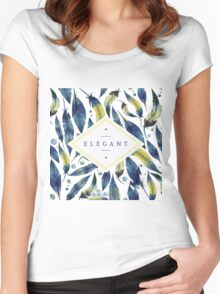 Elegant leaves Women's Fitted Scoop T-Shirt