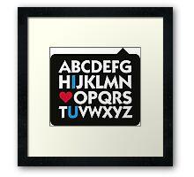 I love you and the alphabet Framed Print