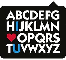 I love you and the alphabet Photographic Print