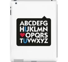 I love you and the alphabet iPad Case/Skin