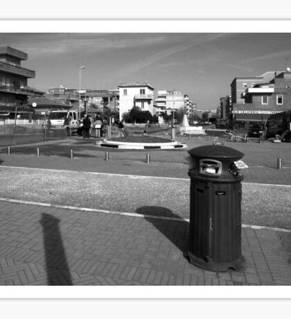 Ostia seafront: urban landscape Sticker