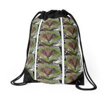 Diamond cat Drawstring Bag