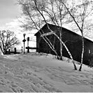 monochrome covered bridge by irishgirl7