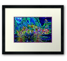 Plasma Duplication with a Sting - 2014 by surrealpete Framed Print