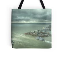 Setting sail for the storm Tote Bag