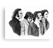 The Beatles Pencil Drawing Canvas Print