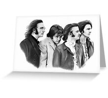 The Beatles Pencil Drawing Greeting Card