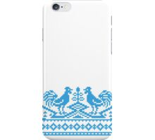 Blue Rooster cross-stitch design  iPhone Case/Skin