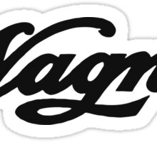 Vintage logo Wagner motorcycles Sticker
