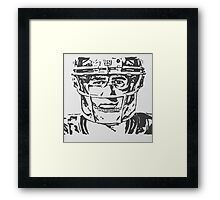 Eli Manning Portrait Framed Print