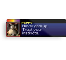 """Peppy - """"Never give up. Trust your instincts."""" Metal Print"""