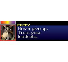 "Peppy - ""Never give up. Trust your instincts."" Photographic Print"