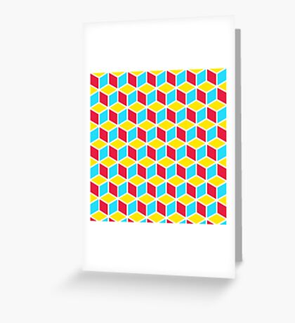 Primary Cubes Greeting Card