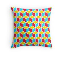 Primary Cubes Throw Pillow