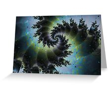 Blue Spiral Galaxy Greeting Card