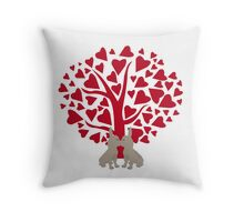 Love Frenchies, kissing French Bulldogs Throw Pillow