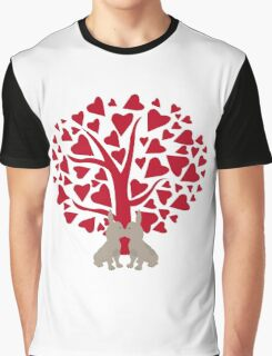 Love Frenchies, kissing French Bulldogs Graphic T-Shirt