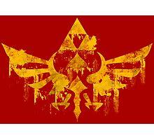 Skyward Symbol - Red BG Photographic Print