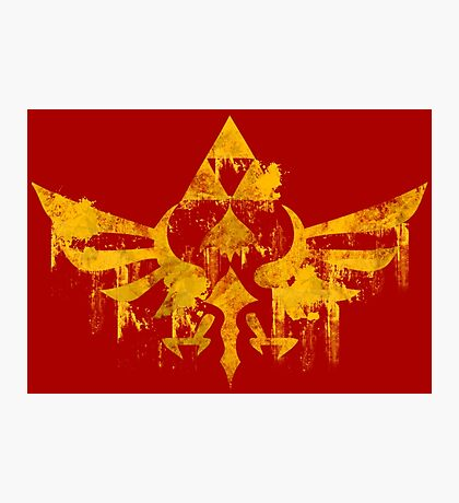 Skyward Symbol - Red BG Photographic Print