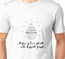 cute illustration with a cupcake Unisex T-Shirt