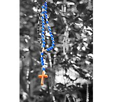 Rosary beads (selective colour) Photographic Print