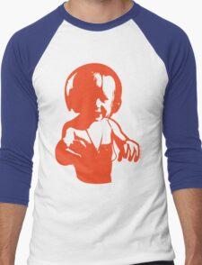 Headphones - Orange Men's Baseball ¾ T-Shirt