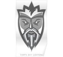 Tampa Lightning Grey King  Poster