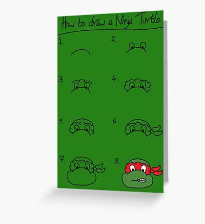 How to draw a ninja turtle Greeting Card