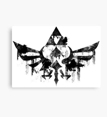 Skyward Symbol - Black Canvas Print
