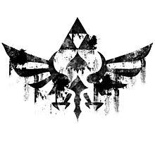 Skyward Symbol - Black Photographic Print