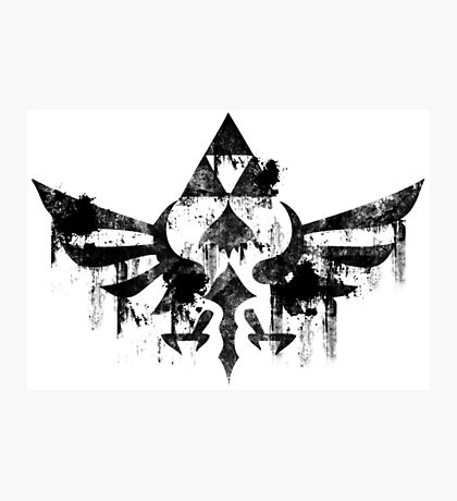 Skyward Symbol - Black Photographic Print