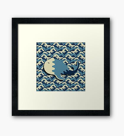 Solitary Whale Framed Print