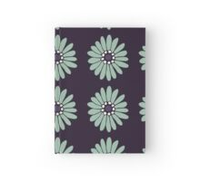 Purple, Navy, Mint Flower Power Pattern Hardcover Journal